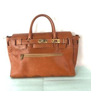 Botticelli Brown Leather Padlock Bag Tote